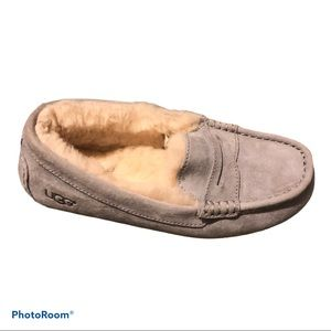 UGG moccasin penny loafer gray slippers size 6